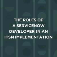 The roles of a servicenow developer