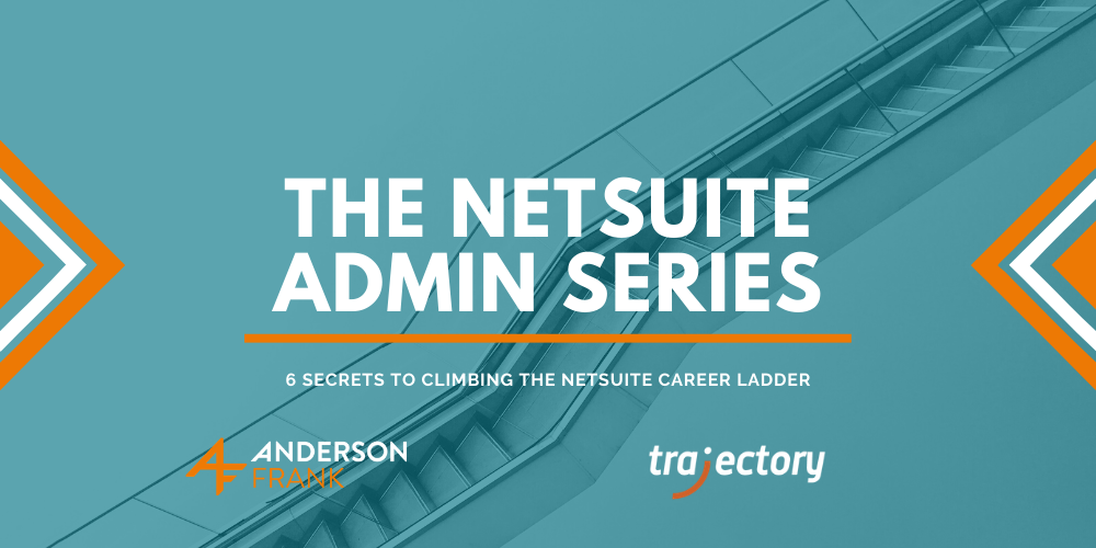 A picture of a staircase going up, with the title '6 secrets to climb the NetSuite career ladder.'